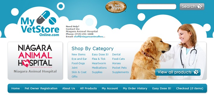 Image of the online store